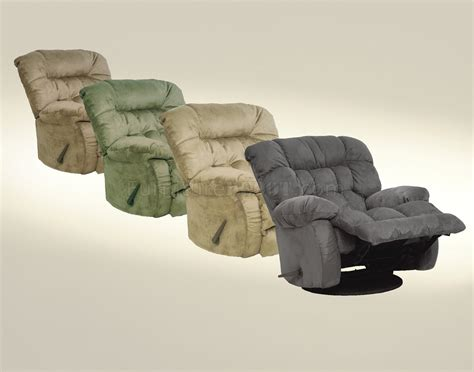 Catnapper Choice Of Color Fabric Modern Teddy Recliner