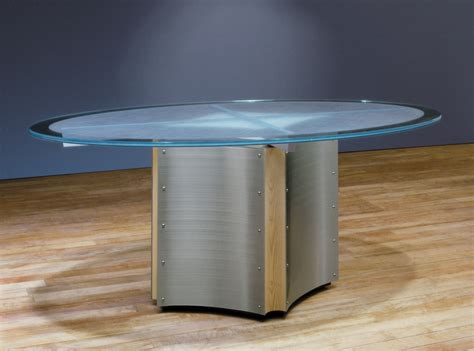 Pedestal Dining Table Round Modern Oval Meeting Table Oval Glass Conference Tables