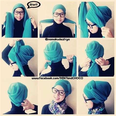 tutorial hijab turban kepang tutorial hijab turban stylish hijab pinterest