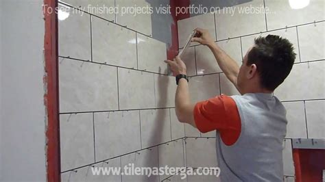 Tiling A Shower Wall Corner by Part Quot 3 Quot Shower Wall Tile Installation Diy How To