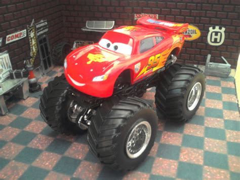 wheels monster jam truck custom 1 64 pixar cars lightning mcqueen wheels
