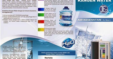 membuat iklan kesehatan contoh brosur air kesehatan dengan nuansa segar desain
