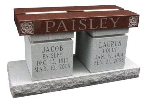 memorial benches for ashes portage marble and granite cremation memorials kent