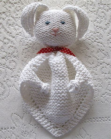 We Like Knitting Bunny Blanket Buddy Free Pattern
