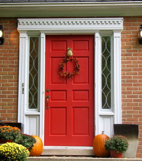 red front doors red front door with pineapple knocker