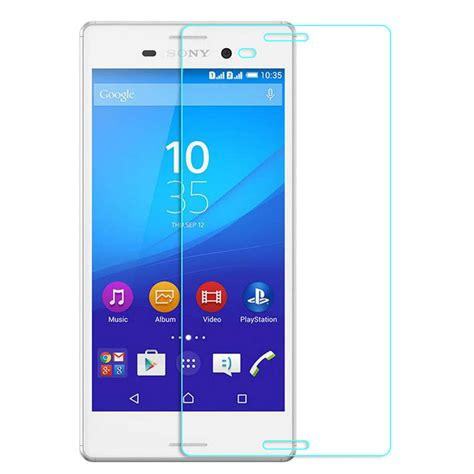 Tempered Glass M4 Aqua 0 3 mm 9h 2 5d screen protector tempered glass for sony xperia m4 aqua protective with