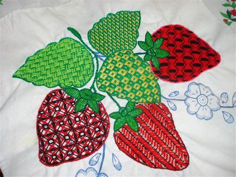 bordados de frutas en servilletas bordado fantasia hoja jazmin youtube
