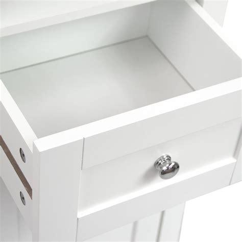 Mirrored Bathroom Tallboy Bathroom Cabinet Mirrored Door Cupboard Storage Shelf Shelving Unit