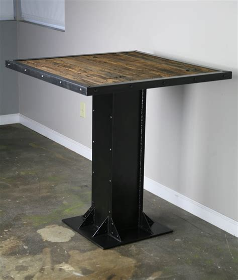 Table Table Restaurant Combine 9 Industrial Furniture Industrial Bistro Table