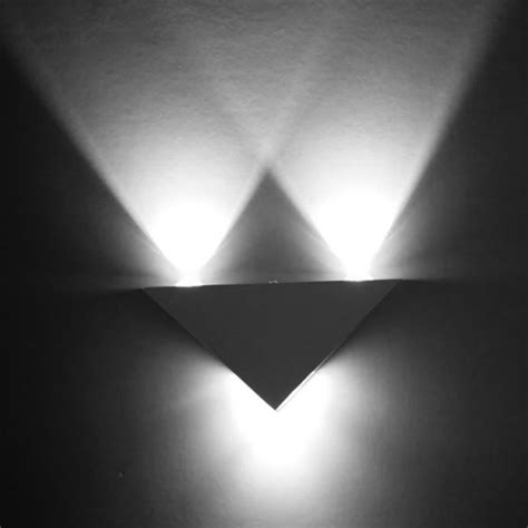 moderne wohnraumbeleuchtung 3w aluminum triangle led wall light l modern home