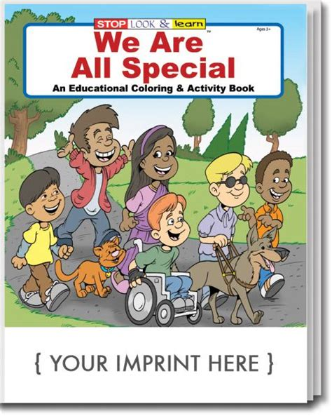 with all we are books we are all special coloring and activity book with your