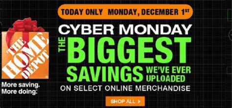 home depot cyber monday canada 2014 flyer sales and deals