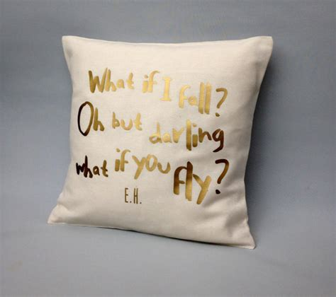 I Pillow Quotes by Gold Quote Pillow Cover What If I Fall Quote Gold Throw