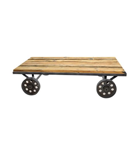 Coffee Table Wheels Mint Coffee Table On Wheels By Mudra Coffee Centre Tables Furniture Pepperfry Product