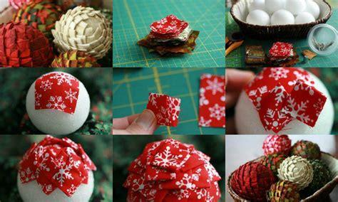 Tuto Boule De Noel En Tissu by Boules De Noel En Tissu Sylviascrap