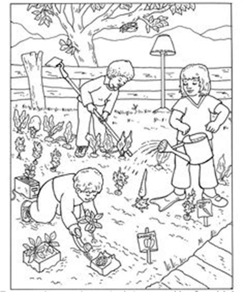 vegetable garden coloring page eco garden pinterest