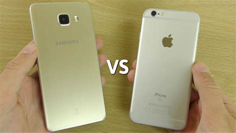 Samsung A5 Y samsung galaxy a5 2016 vs iphone 6s speed
