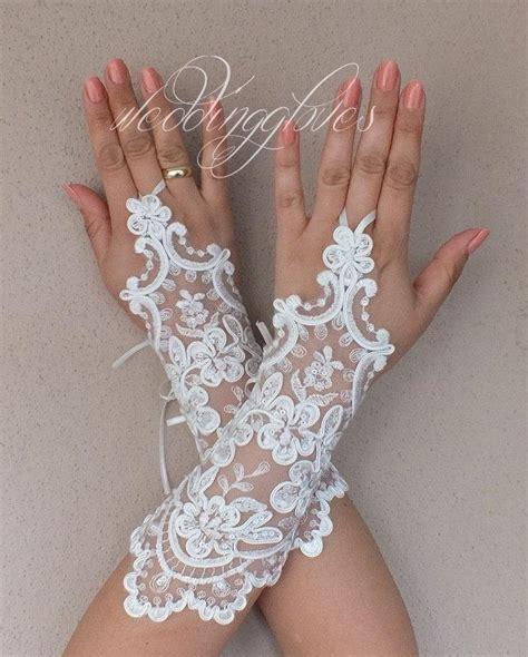 Lace Wedding Gloves weddinggloves grandeur wedding gloves ivory