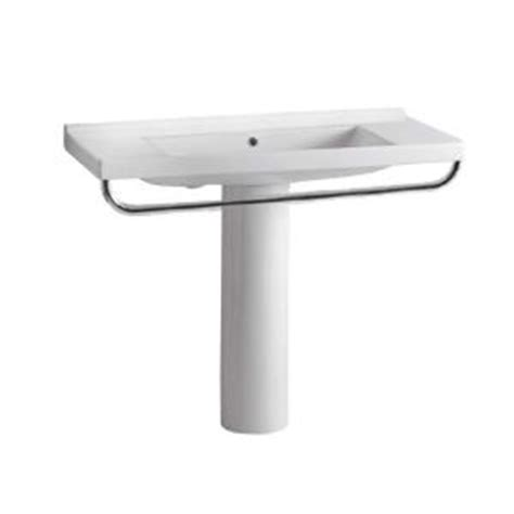 Pedestal Sink With Towel Rack by Whitehaus Collection China Series Tubular Pedestal Combo