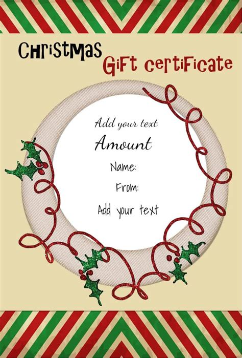 free blank gift certificate templates for word printable gift