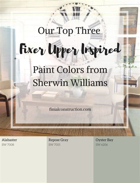 top  sherwin williams paint colors    fixer