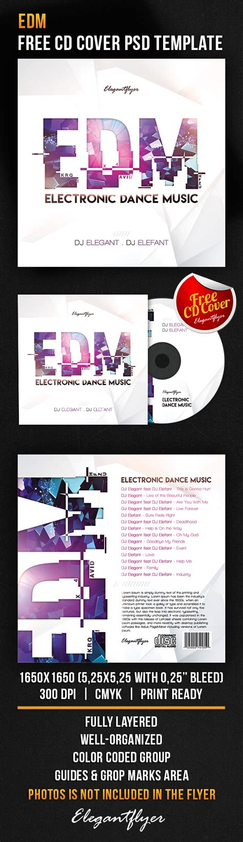 html edm template free edm free cd cover psd template flyer template psd