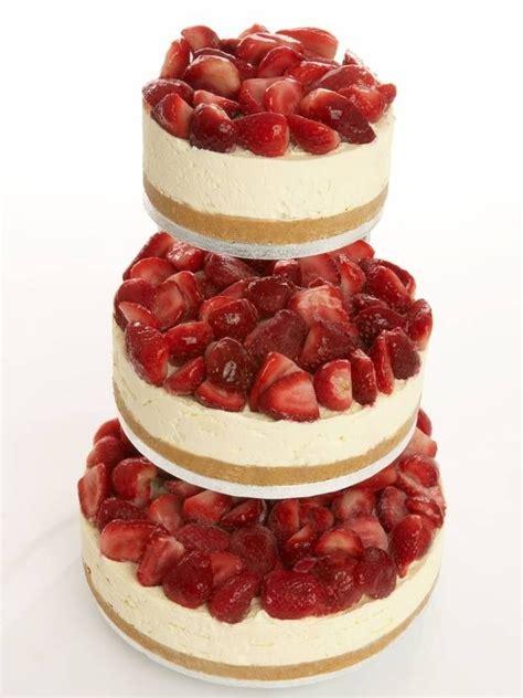 Hochzeitstorte Cheesecake by Strawberry Cheesecake Wedding Cake Idea In 2017