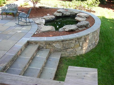 Pavement Flagstone Backyard Steps Ideas