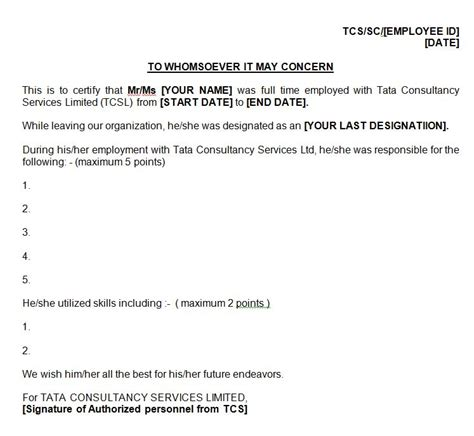 Experience Letter After Resignation Leaving Tcs Onsite Skill Letter For Green Card Am22 Tech