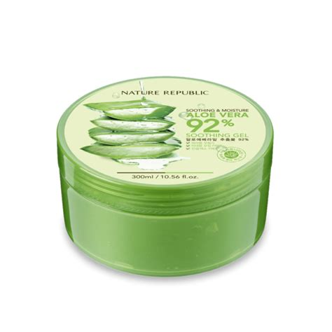 Nature Republic Aloe Vera Soothing And Moisture Cleansing Gel Foam soothing moisture aloe vera 92 soothing gel