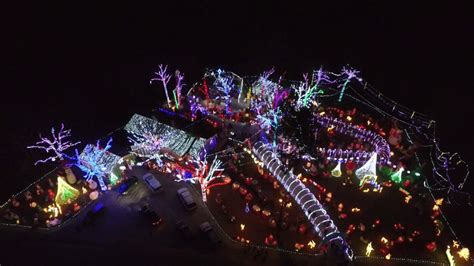 stewart family lights stewart family light display by drone