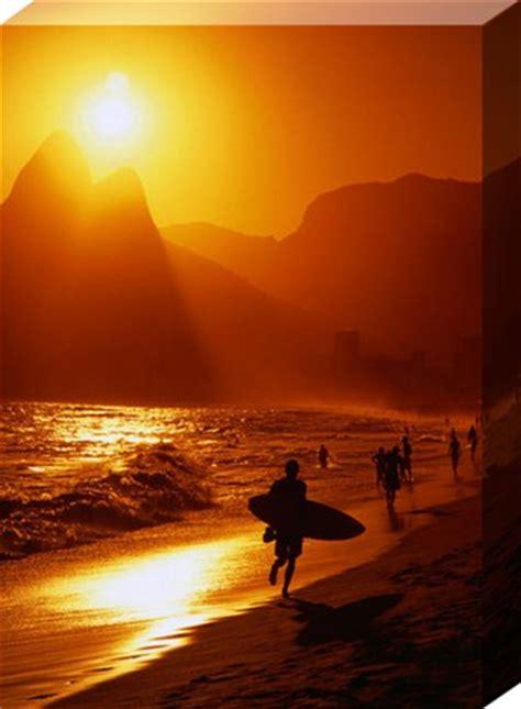 Beautiful Wall Murals sunset at ipanema rio de janeiro brazil large canvas