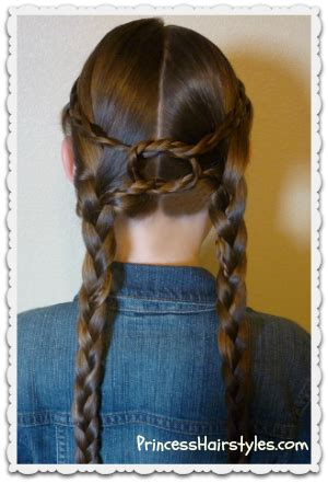 equestrian braids double braid knotted hairstyle hairstyles  girls princess hairstyles