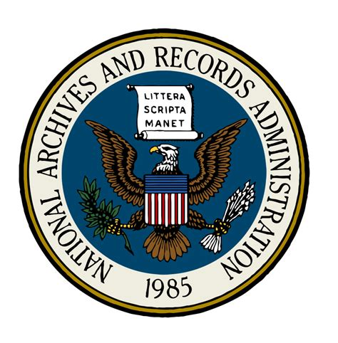 Us Government Records Free File Seal Of The National Archives And Records Administration Color With Partial Blue
