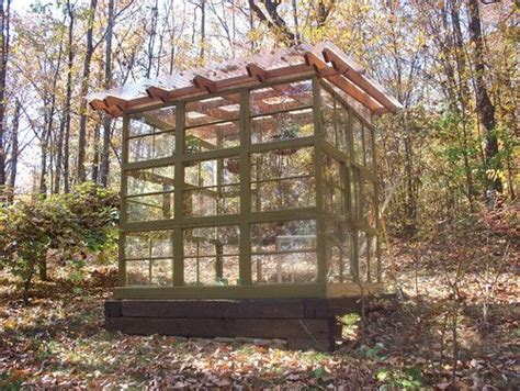 Greenhouse From Salvaged Windows Decor Recycled Window Greenhouse Garden Pinterest