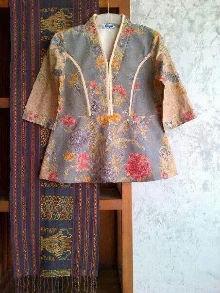 Batik Fashion Wanita Combination Amanda Top 17 best images about model batik on brokat