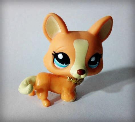 ebay lps dogs lps littlest pet shop 2290 corgi glitter figure ebay