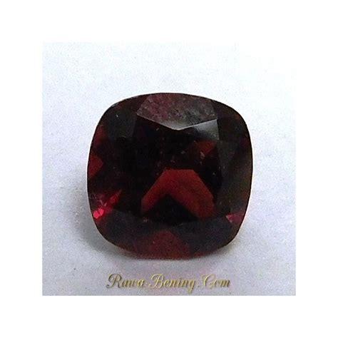 Batu Garnet Merah Kotak batu permata garnet merah kualitas bagus bentuk kotak 1