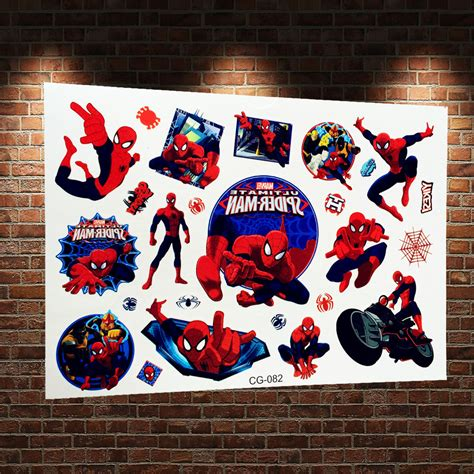 spiderman henna tattoo 3d temporary sticker waterproof