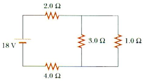 find the current and voltage across each resistor general physics ii