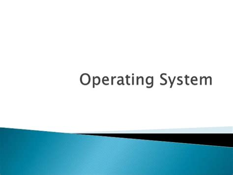 The Operating System Of Jesus operating system overview concepts ppt