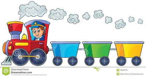 treno clipart treno con tre vagoni vuoti illustrazione vettoriale