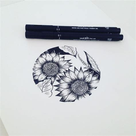 circle flower tattoo designs sunflowers in circle graphicbyd minimalisttattoo