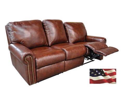 Brown Leather Sofa Recliner Reclining Sofas Manual Recliner Leather Sofa