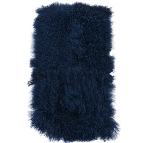 blue fur rug mongolian fur rug blue curly hair