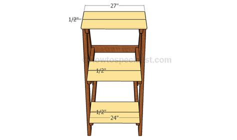 Plant Shelf Plans by How To Build A Tiered Plant Stand Howtospecialist How