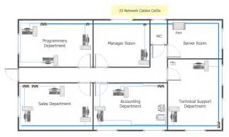 Design Home Ethernet Network How To Create A Ms Visio Floor Plan Using Conceptdraw Pro
