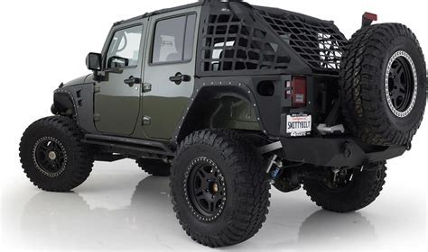 armored jeep wrangler smittybilt 76882 xrc armor rear corner guards for 07 17