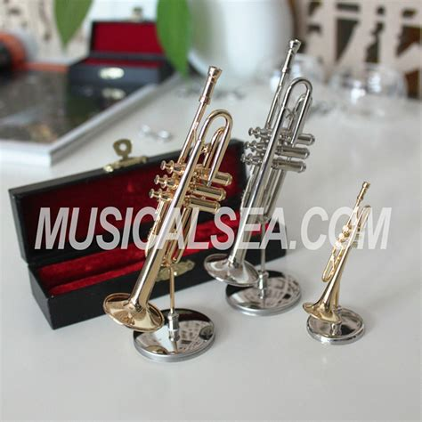 forum novelties gold saxophone party kazoo play musical miniature decorative replicas brass trombone and saxophone