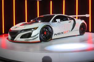 new acura car acura nsx gt3 race car storms into new york auto show